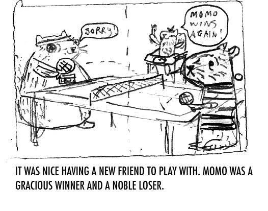 Momo was a gracious winner