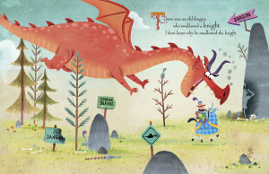 dragon swallowing knight
