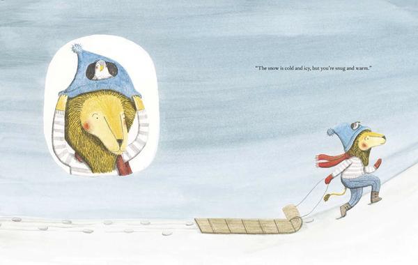 Lion and Bird sledding
