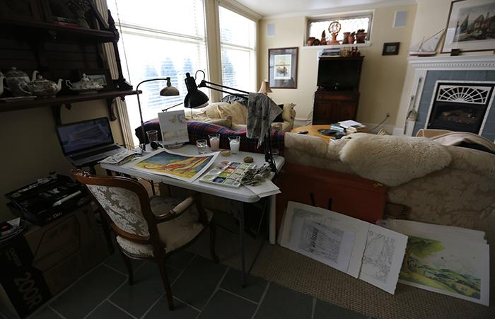 Desk set up in Stillwater rental